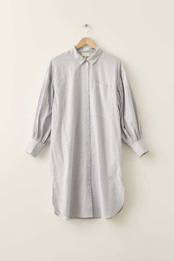 MILK Copenhagen Fie Lang- Hemd Shirts - Woman Pin Stripe
