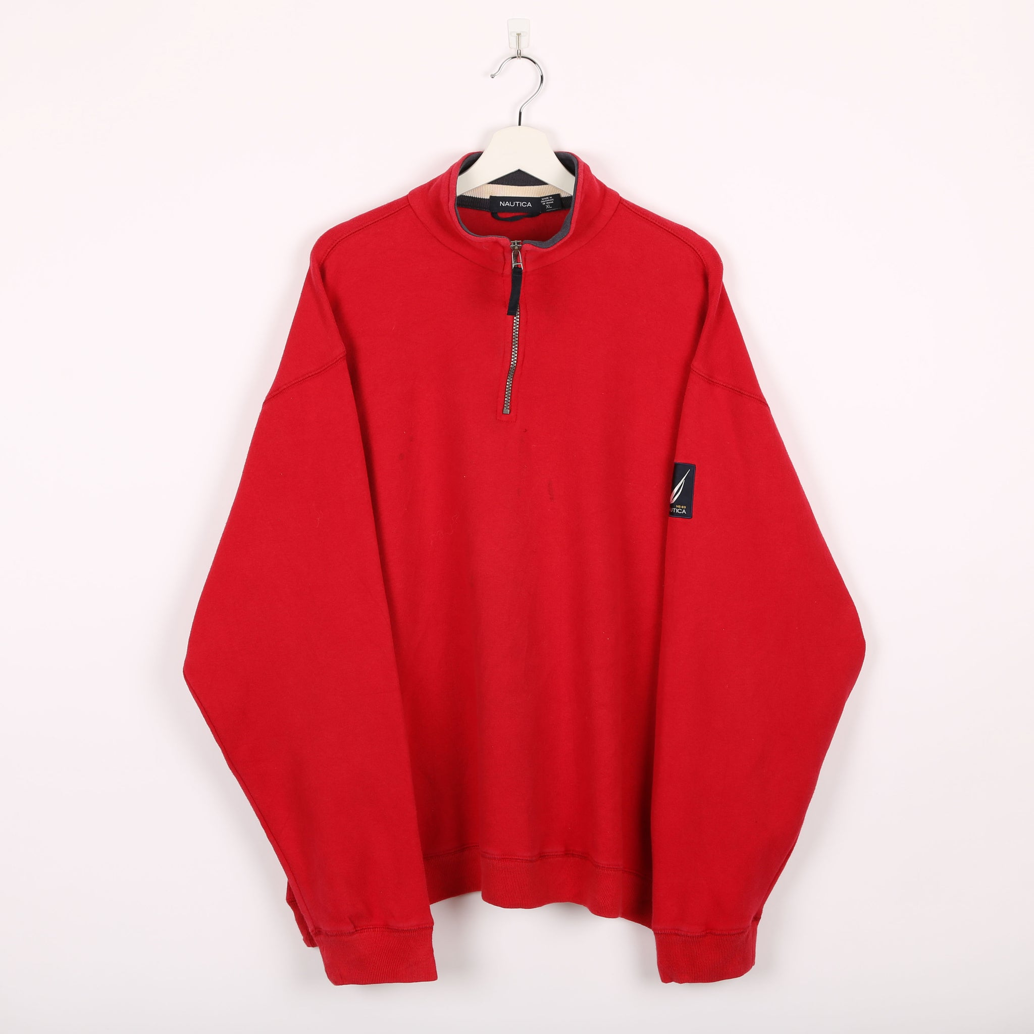 Nautica 1/4 Zip Sweatshirt Red XLarge