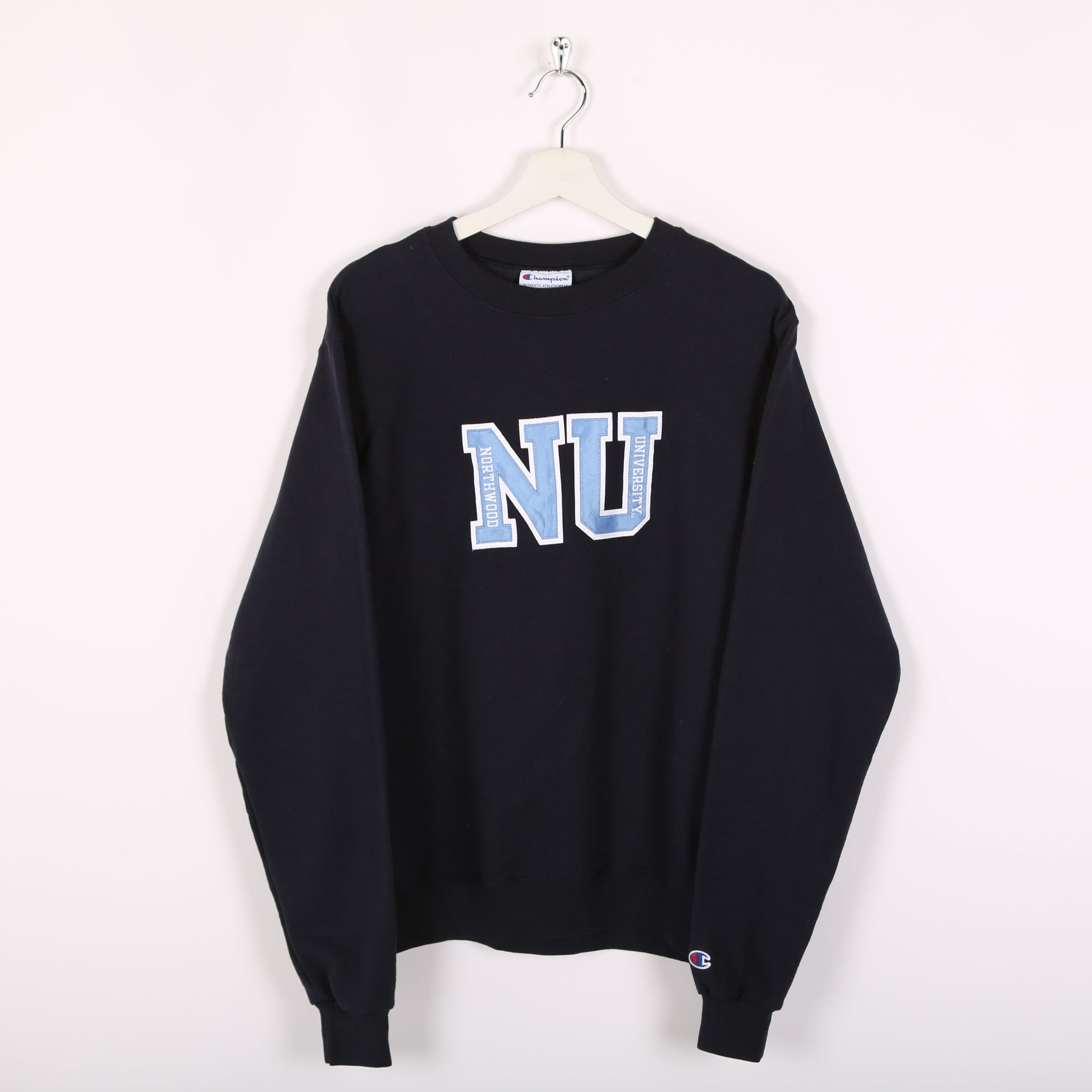 Champion USA College Sweatshirt Blue Small
