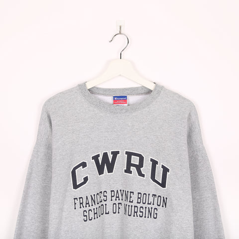 Champion USA College Sweatshirt Grey Large