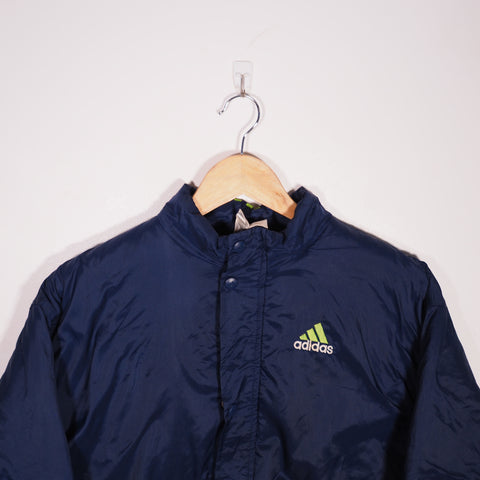 Adidas Padded Coat Blue Medium