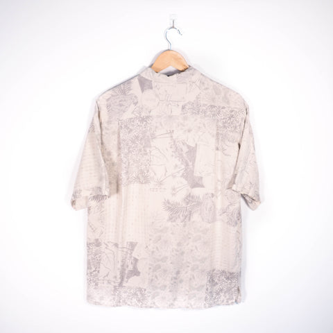 Abstract Pattern Shirt Cream Large