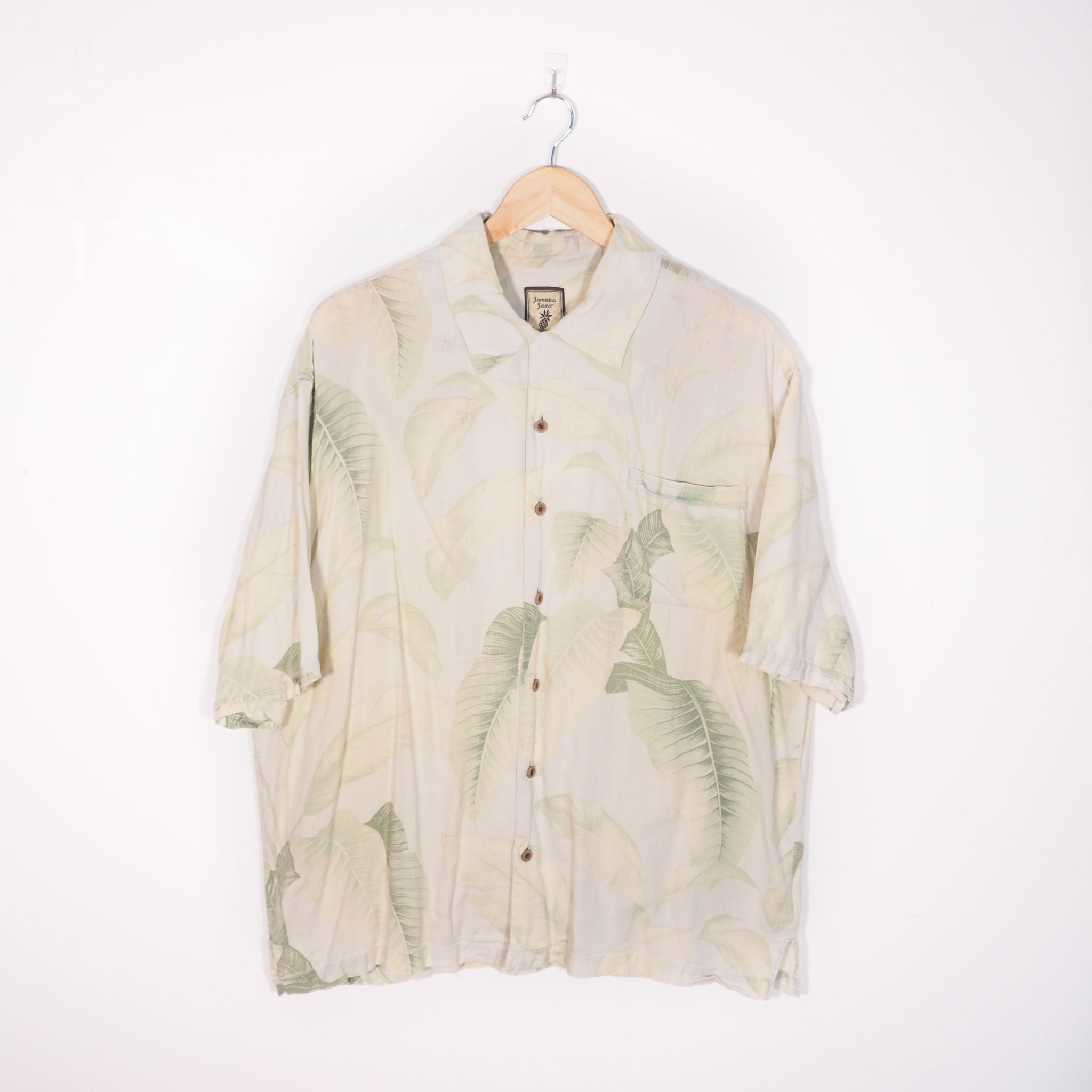Abstract Pattern Shirt Green XLarge