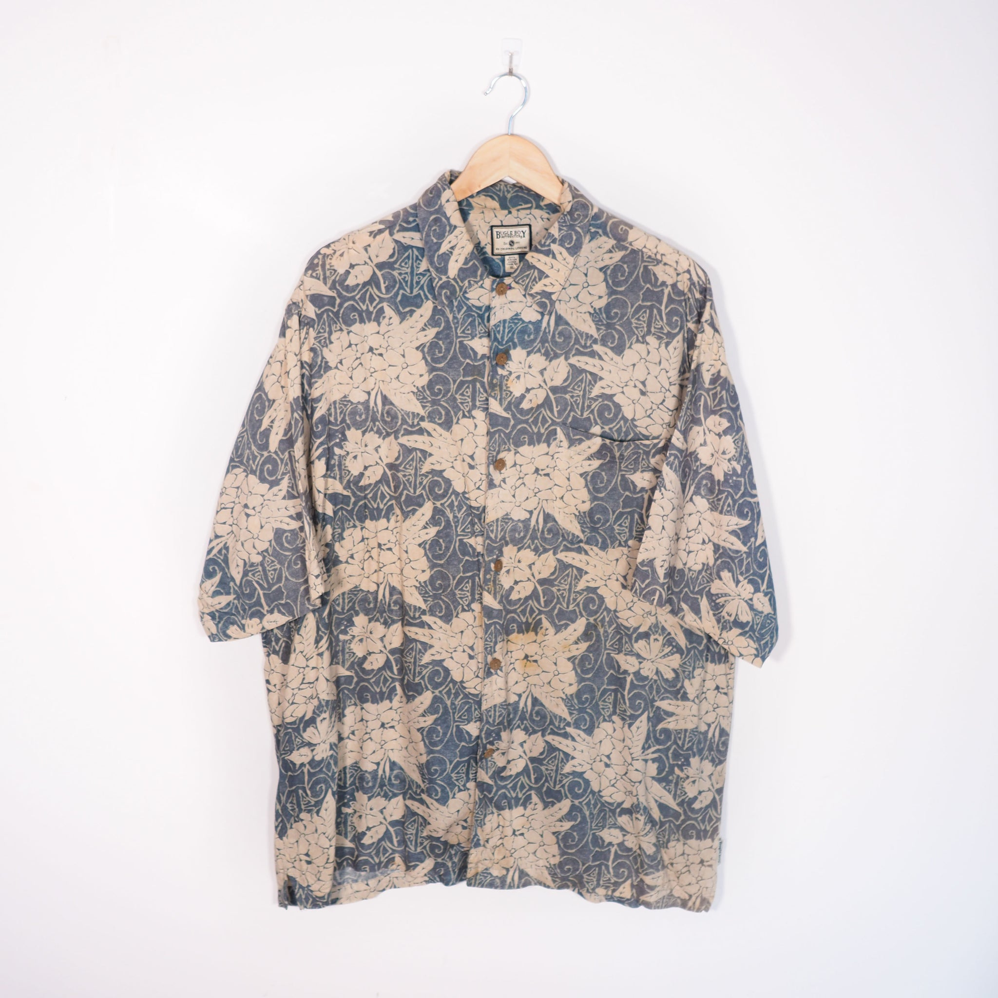 Abstract Pattern Shirt Blue XLarge