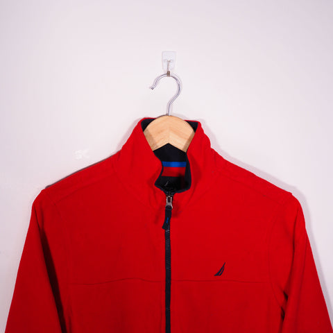 Nautica 1/4 Zip Fleece Red XSmall