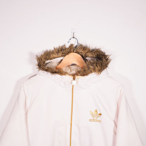 Adidas Padded Coat White Medium