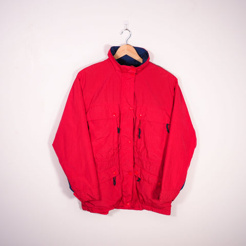 LL Bean Padded Coat Red Small