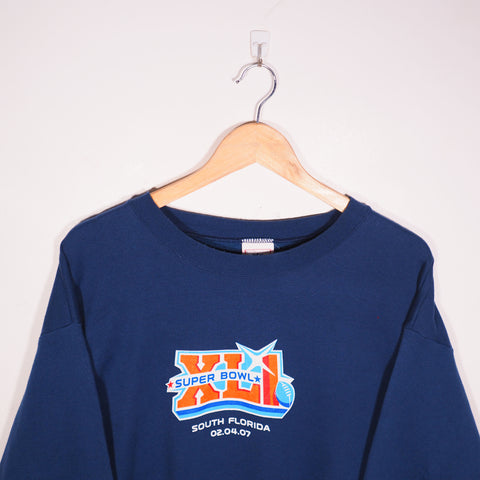 NFL Merch USA Team Sweatshirt Blue Large