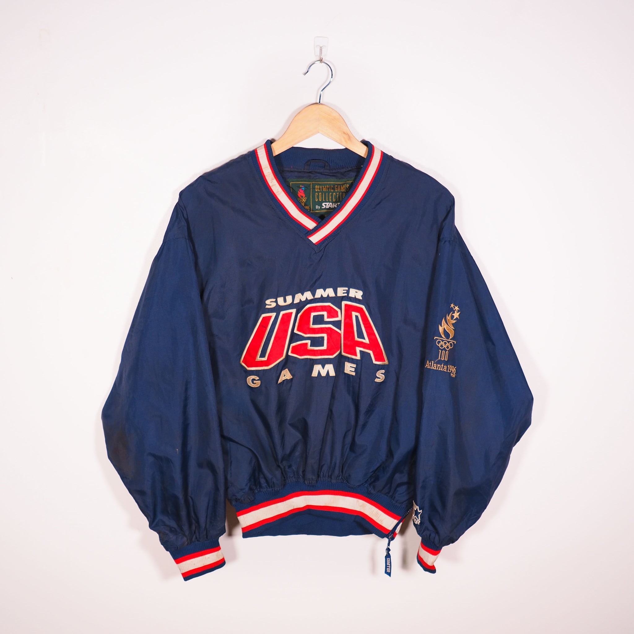 Starter USA Olympic Light Jacket Blue Small