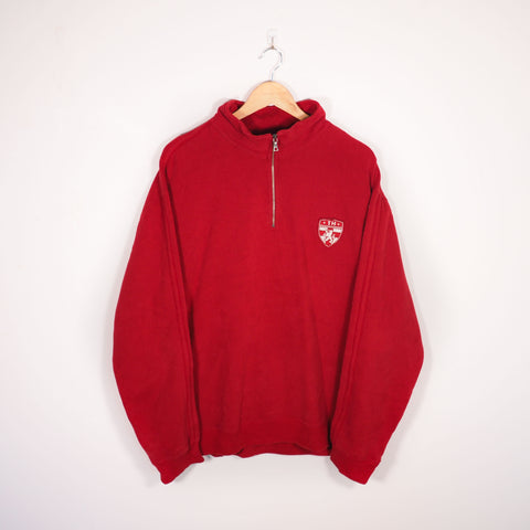 Tommy Hilfiger 1/4 Zip Sweatshirt Red Large