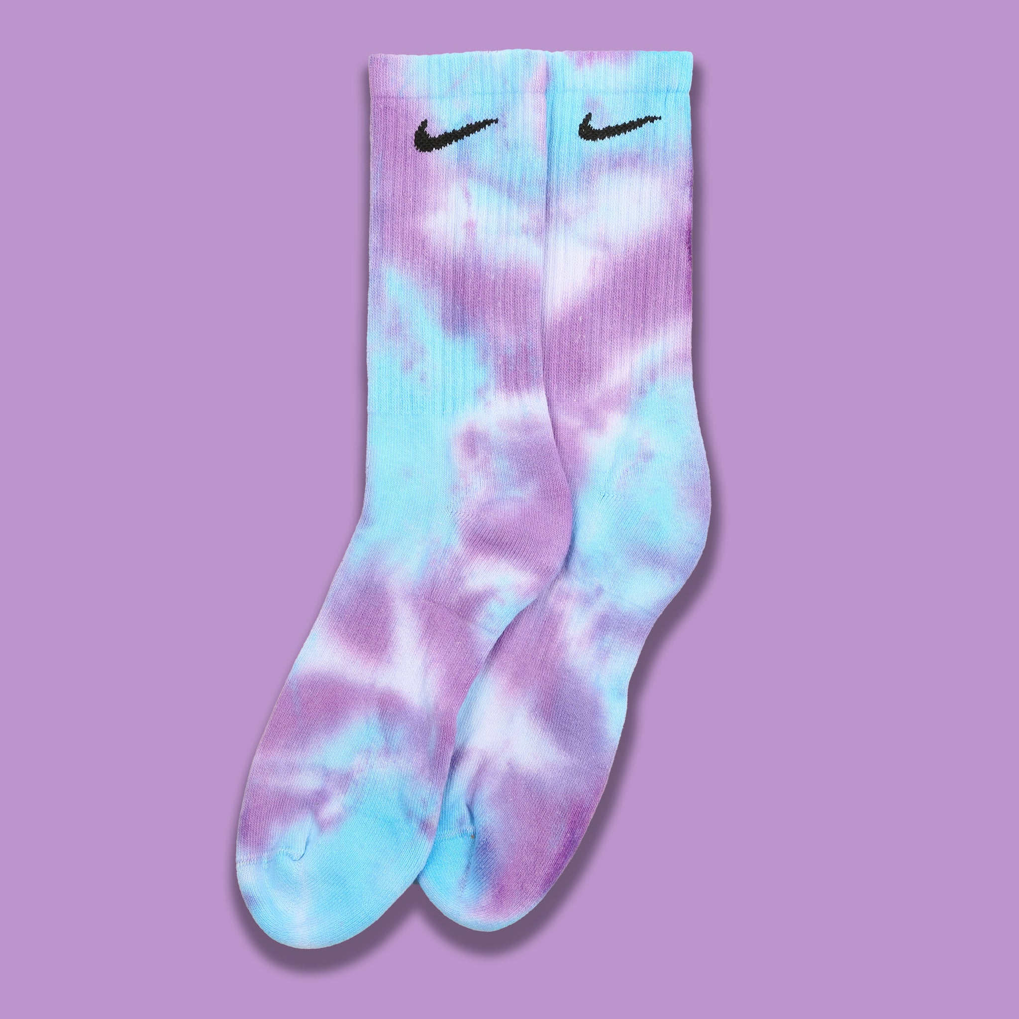 Nike Socks Tie Dye Purple/Blue Large