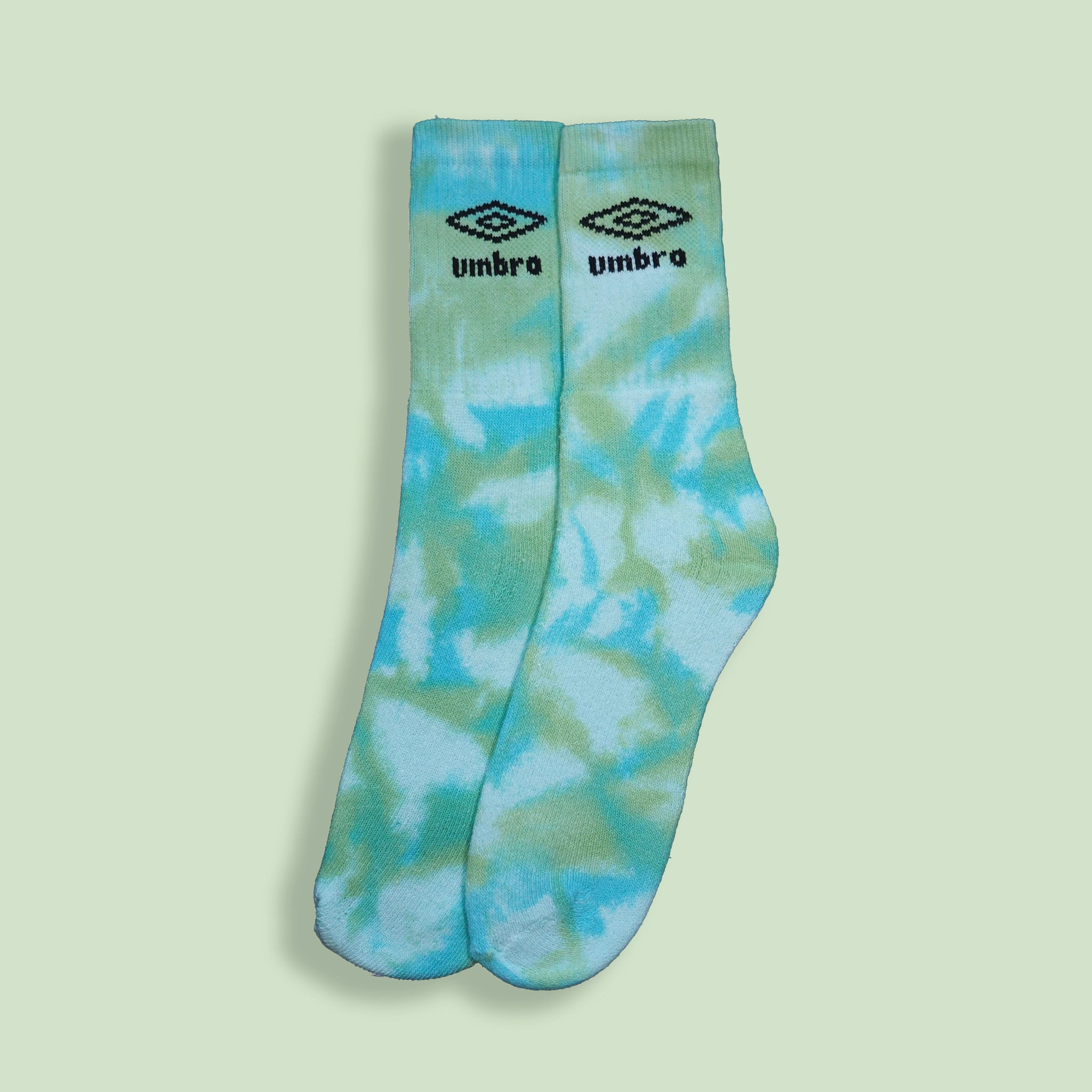 Umbro Socks Tie Dye Blue & Green Medium