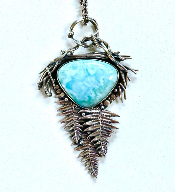 Handmade Sterling Silver Original Jewelry with Larimer, Aquamarine, Turquoise, Sonoran Sunrise, and many precious stones