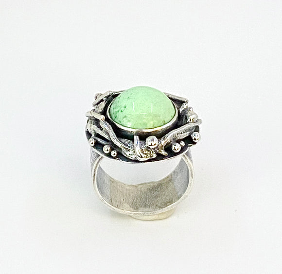 Chrysoprase Sticks and Stones Ring