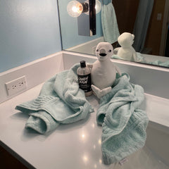 Stuffed Beluga Whale with Lush Conditioner