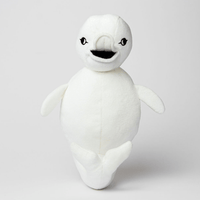 Baby Beluga Stuffed Animal Made from Recycled Plastic