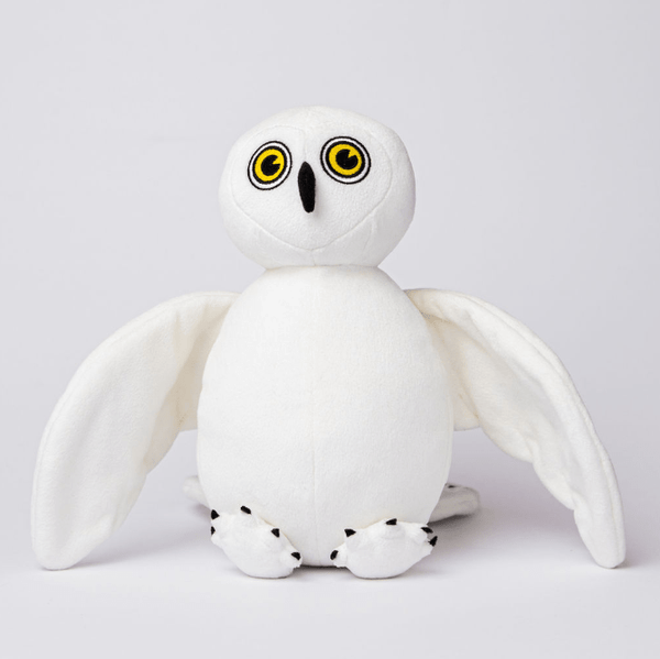 Snowy Owl Stuffed Animal Made from Recycled Plastic White with Yellow Eyes and Black Talons