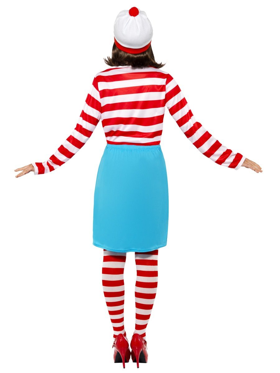 Large Red /& White Striped Top With Hat Wally Wenda Costume