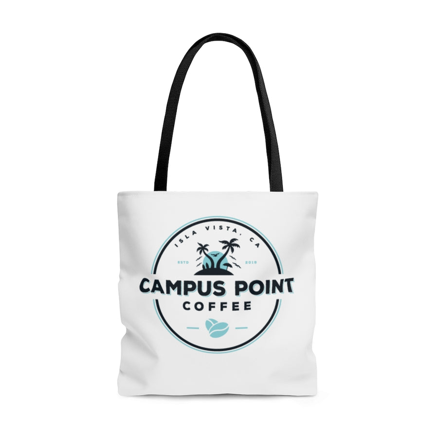 tote bag, branded tote bag, white tote bag, campus point coffee