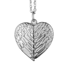 Load image into Gallery viewer, Wings heart shaped locket
