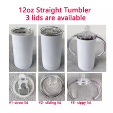 Load image into Gallery viewer, BUYIN 12oz straight tumbler and sippy