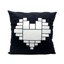 Load image into Gallery viewer, Moon/Heart panel pillowcovers
