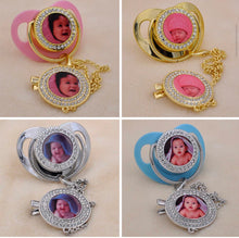 Load image into Gallery viewer, Sublimation bling pacifier with holder for sublimation