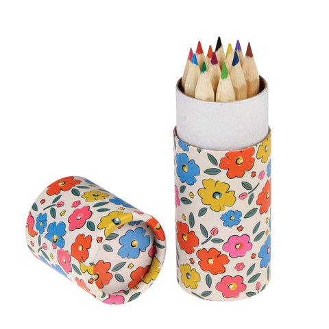 FLORAL MAZE COLOURING PENCILS (SET OF 12)
