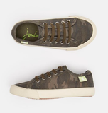 Joules Lace Up Canvas Trainer