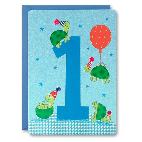 James Ellis Boy's Age 1 Tortoises Card