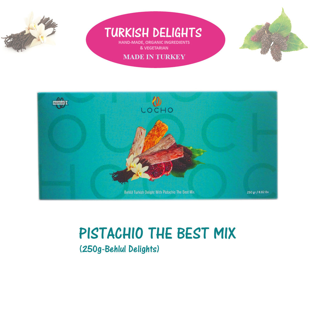 Pistachio The Best Mix (250g Behlul, Non GMO, Organic) - Made in Turkey