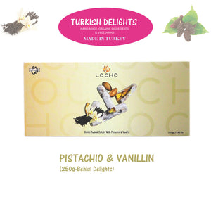 Pistachio & Vanillin (250g Behlul, Non GMO, Organic) - Made in Turkey