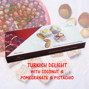 Coconut & Pomegranate & Pistachio (250g, Non GMO, Organic) - Made in Turkey