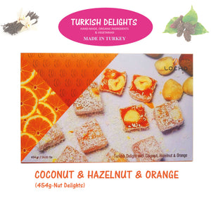 Coconut & Hazelnu & Orange (454g, Non GMO, Organic) - Made in Turkey