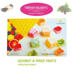 Coconut & Mixed Fruits (454g, Non GMO, Organic) - Made in Turkey
