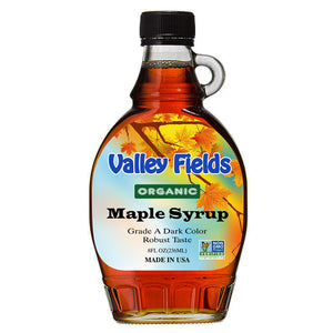 Valley Field Maple Syrup Robust Taste 8oz (Made in USA)