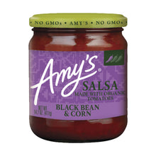 Load image into Gallery viewer, Amy's Kitchen Organic SALSA - Black Bean and Corn