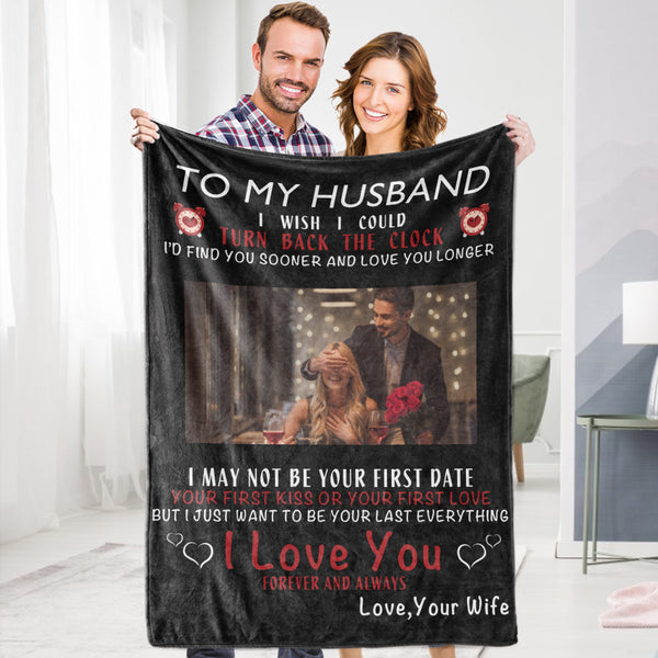 Personalized To My Husband Blanket Valentine's Blanket Fleece Blanket