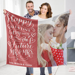 Personalized Custom Blanket Valentine's Blanket Fleece Blanket Happy Valentine's Day