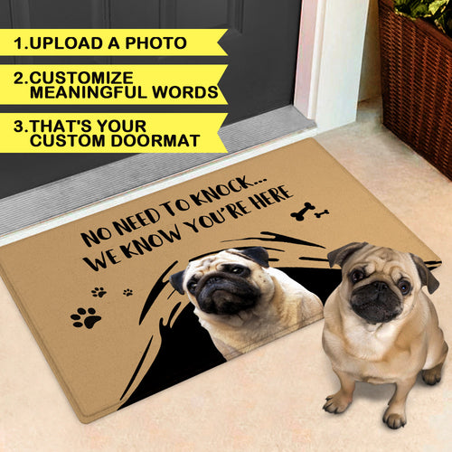 Custom Funny Doormat-Photo Door Mat With Your Pet's Photo And Name