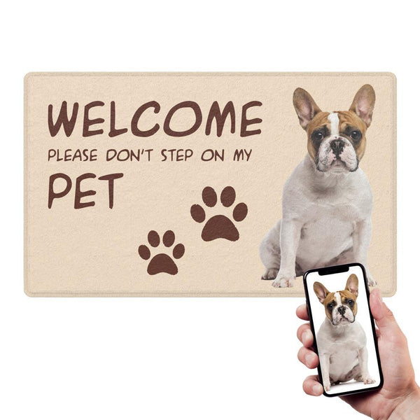Custom Funny Doormat-Welcome Mats With Your Pet's Photo