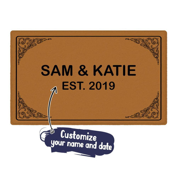 Custom Last Name Doormat-Personalized Welcome Mat with Your Name