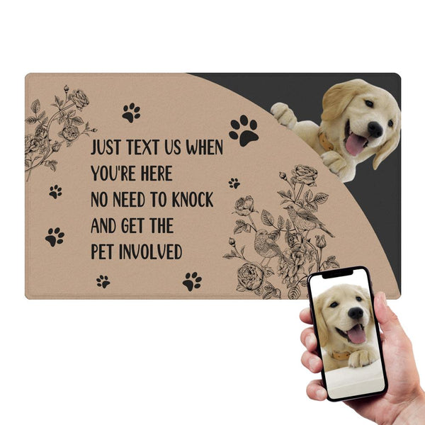 Custom Pet Involved Doormat With Your Pet's Photo