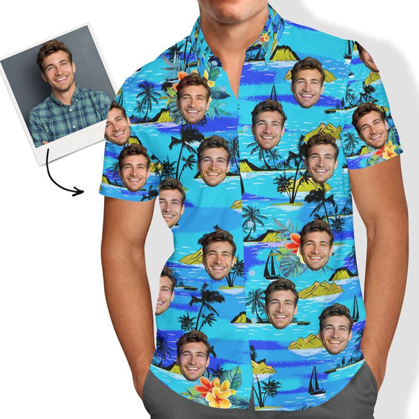 Vice City Custom Face Hawaiian Shirt Men's Gang Style