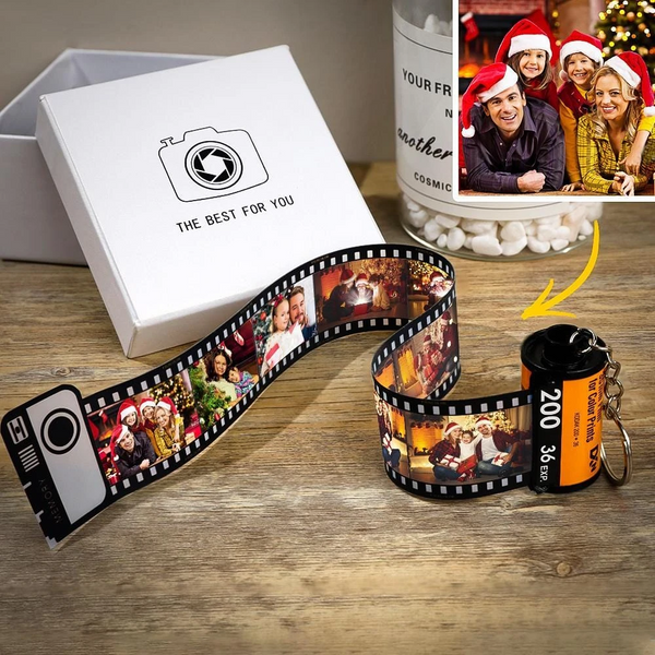 Custom Camera Roll Keychain Romantic Customized Christmas Gifts
