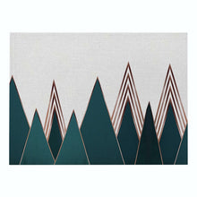 Load image into Gallery viewer, Hot Geometric Patterns Distinctive Placemat Green Simple Table Napkins Dining Table Mat Bowls Drink Coasters Kitchen Accessories