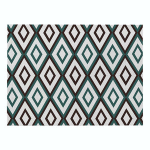Hot Geometric Patterns Distinctive Placemat Green Simple Table Napkins Dining Table Mat Bowls Drink Coasters Kitchen Accessories
