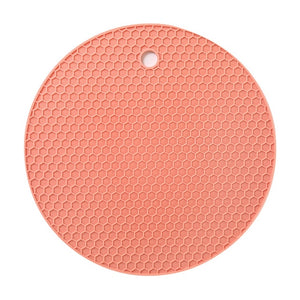 1PCS Round Heat Resistant Silicone Mat Drink Cup Coasters Non-slip Pot Holder Table Placemat Kitchen Accessories