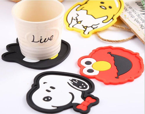 1Pc 2019 Silicone Dining Table Placemat Coaster Kitchen Accessories Mat Cup Bar Mug Cartoon Animal Owl Totoro Minions Drink Pads