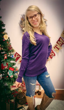 Purple sweater top